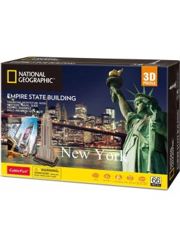CUBINFUN 3D ΠΑΖΛ NATIONAL GEOGRAPHIC EMPIRE STATE BUILDING 66 ΤΕΜ. (DS0977h)